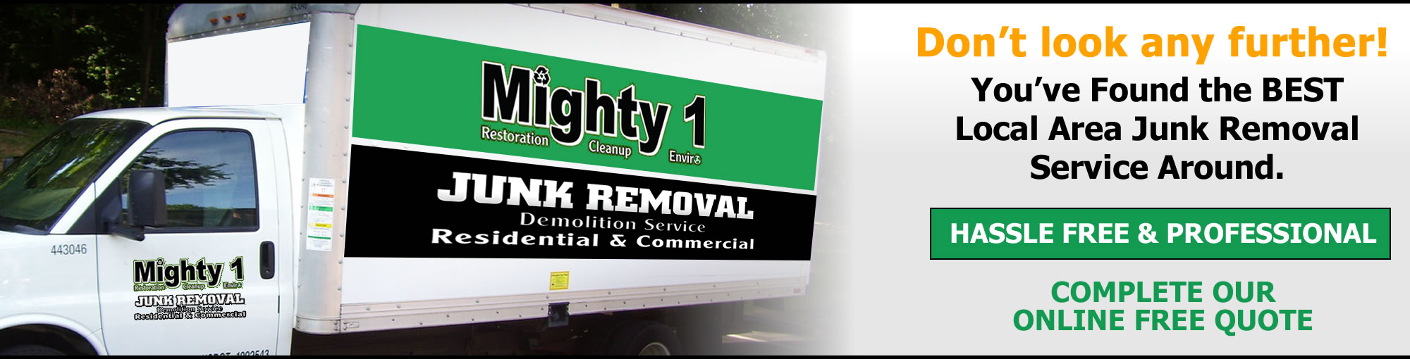 Cleanups / Demolition / Junk Removal